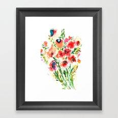 Bouquet Red Framed Art Print
