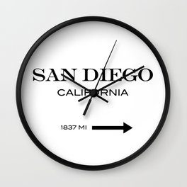 San Diego - California Wall Clock