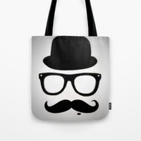 gentleman Tote Bags featuring Gentleman by Amy Copp