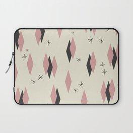 Mid Century Pink Diamond Pattern Laptop Sleeve