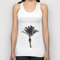 palm Tank Tops featuring Palm  by Patricia de Cos