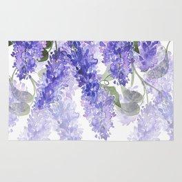 Purple Wisteria Flowers Rug