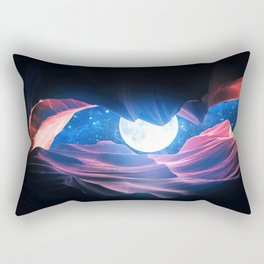 Grand Canyon with Space & Full Moon Collage I - v2 Rectangular Pillow