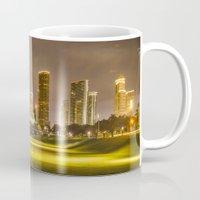 houston Mugs featuring houston skyline by franckreporter