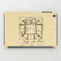 da vinci iPad Cases featuring Kot da Vinci by Katja Main