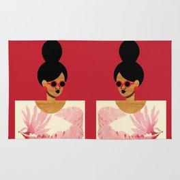 High Bun Postcard Girl Rug