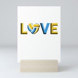 LOVE VOLLEYBALL BEACHVOLLEYBALL GIFT Mini Art Print