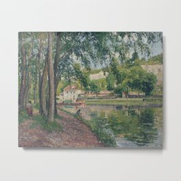 Camille Pissarro - Moret, The Canal Of Loing Metal Print