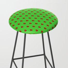 Strawberry Green - Posterized Bar Stool