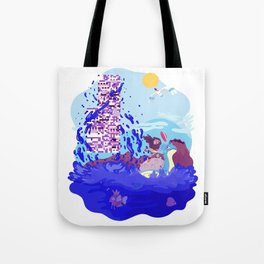 Tiny Worlds - Cinnabar Island Tote Bag