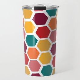 Bright and Happy Geometric Pattern Travel Mug