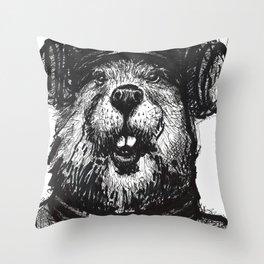 Mr. Beaver Throw Pillow
