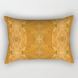 Luxurious Gold Acrylic Pattern Rectangular Pillow