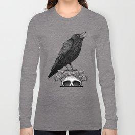 Black Crow & Skull Long Sleeve T-shirt