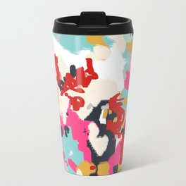 Inez - Modern Abstract painting in bold colors for trendy modern feminine gifts ideas  Travel Mug