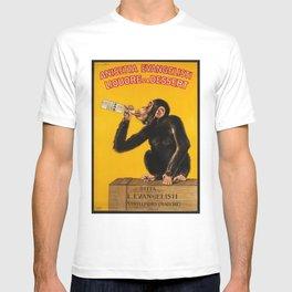 Vintage Anisette Liquor Italian Drinking 'Drunken Monkey' Aperitif Advertisement Poster T-shirt