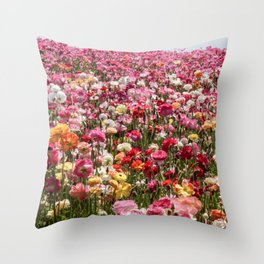 Carlsbad Flower Fields Throw Pillow