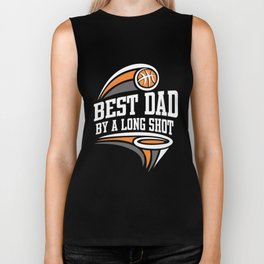 Basketball Design Fathers Day Gift for Dad Dark Biker Tank