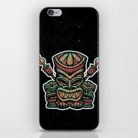 tiki iPhone & iPod Skins featuring Tiki Tiki Tiki by KNDRSS