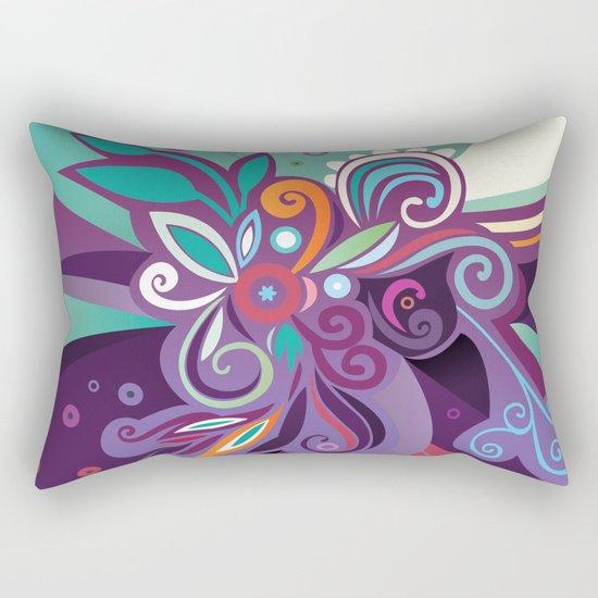 Floral curves of Joy Rectangular Pillow