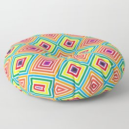 Colorful geometric pattern octagon Floor Pillow