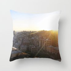 Tramonto a Genova 2 Throw Pillow