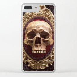 Catacomb Culture - Vintage Human Skull Clear iPhone Case