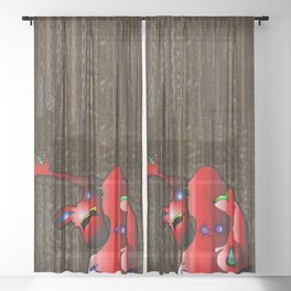 Froggy Sheer Curtain