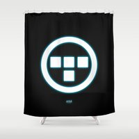 tron Shower Curtains featuring Tron Lives! by Universo do Sofa - Artes & Etecetera