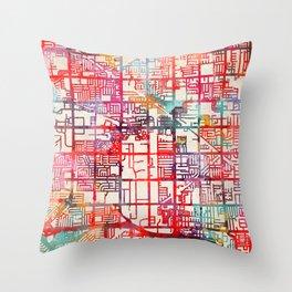 Stanton map California CA Throw Pillow