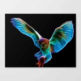 Barn Owl Fractal Canvas Print