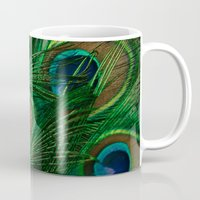 peacock Mugs featuring Peacock by Olivia Joy St.Claire - Modern Nature / T