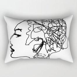 Sketch Head Rectangular Pillow