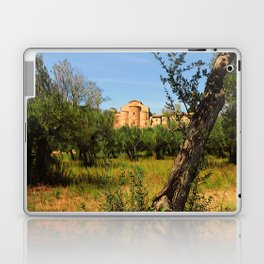 Italy, olive trees and an ancient abbey Laptop & iPad Skin