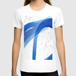 Abstract Acrylic Painting Blues Series 4 T-shirt