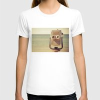 robot T-shirts featuring Robot Head by Olivia Joy StClaire