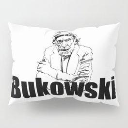 Charles Bukowski Drawing Pillow Sham