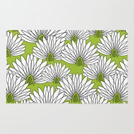 flowers on greenery Rug