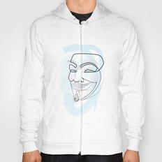 One line mask: V Hoody