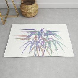 Bamboo Leaves - White Lines - Multycolor Rug
