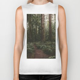 Old growth forest Biker Tank