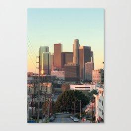 Los Angeles skyline at dawn Canvas Print