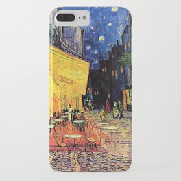 The cafe terrace on the place du forum, Arles, at night, by Vincent van gogh.  iPhone Case