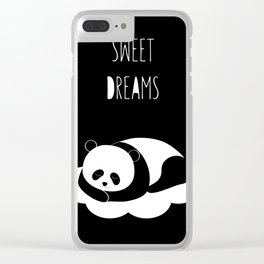 Sweet dreams with panda Clear iPhone Case
