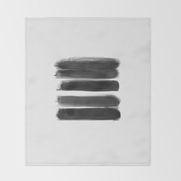 Stripes - No Comment #1 #minimal #painting #decor #art #society6 Throw Blanket