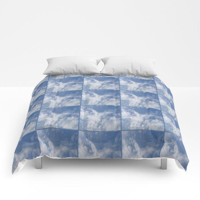 Cloud and sky VI -cloud, sky, blue, positive,optimism Comforters