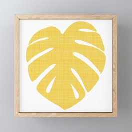 Tropical Leaf in Red and Yellow Framed Mini Art Print
