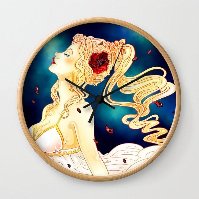 Goddess of the Harvest Wall Clock
