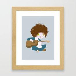 Curly Bob Framed Art Print