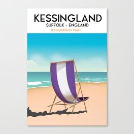 Kessingland, suffolk seaside poster. Canvas Print